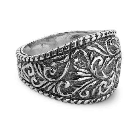 Sparkling Diamond Cut Silver Ring