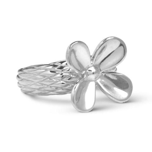 Sterling Silver Bold Flower Ring Size 5 to 10
