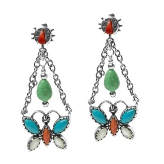 Veronica Benally Butterfly Earrings
