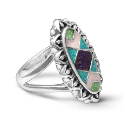 Southwest Spirit Pastel Inlay Ring