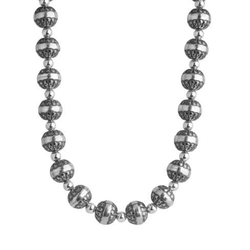 Sterling Silver Silver Native Pearl 21 Necklace