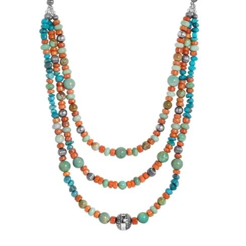 20 Multi Gemstone Beaded Leather Necklace