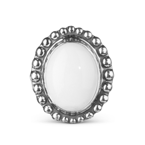 Sterling Silver White Agate Treasures Magnetic Insert