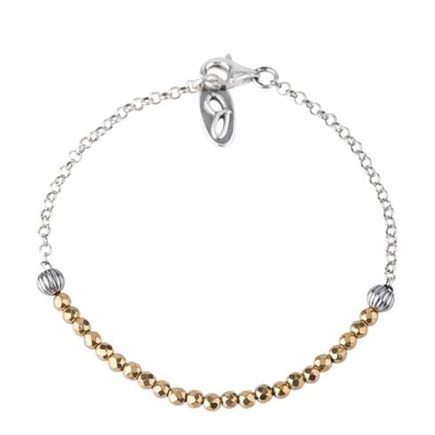 Jennifer Nettles Sterling Silver Gold Hematite Bead Bracelet