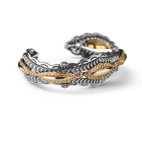 Fritz Casuse Mixed Metal Bold Cuff Bracelet