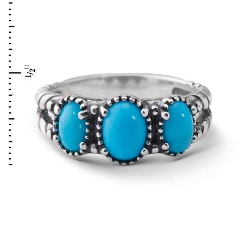 American West Sterling Silver Sleeping Beauty Turquoise Ring