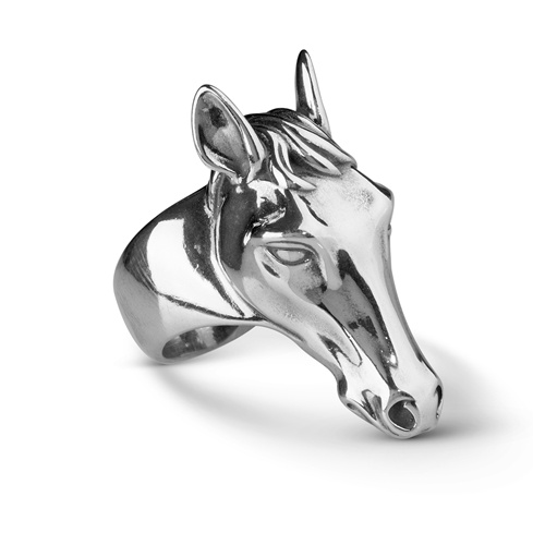 Sterling Silver Horse Head Ring Size 5 to 10