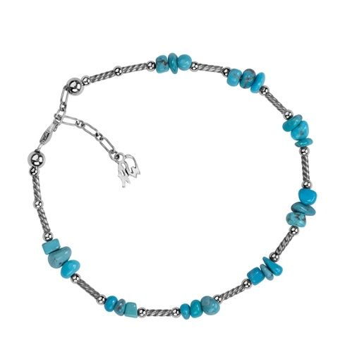 Turquoise Nugget Anklet