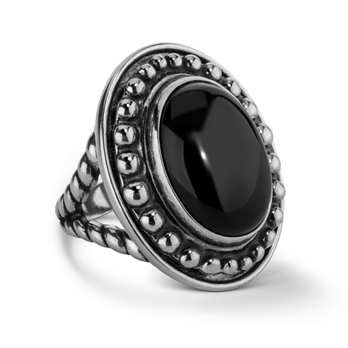 Treasures Black Agate Interchangeable Bold Ring