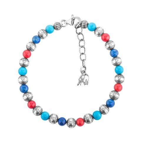 Multicolor Beaded Native Pearl Beaded Bracelet