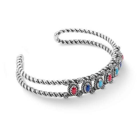 Multicolor Mini Rope Cuff bracelet