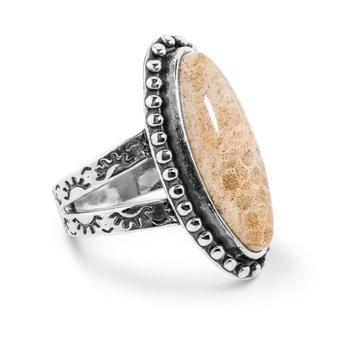 Fossilized Jasper Ring (Size: 6)