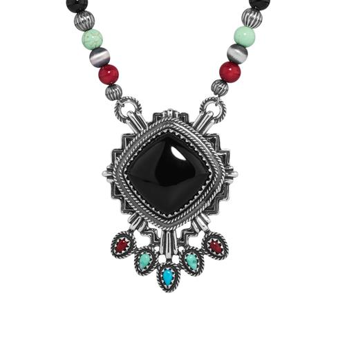 Fritz Casuse Multi Gemstone Zia Necklace
