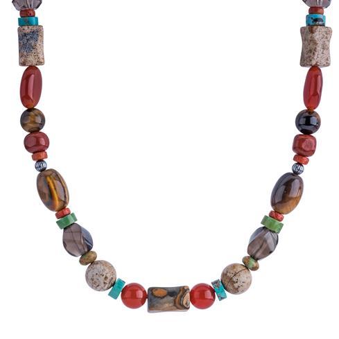 Multi Gemstone Beaded 15 Inch Necklace
