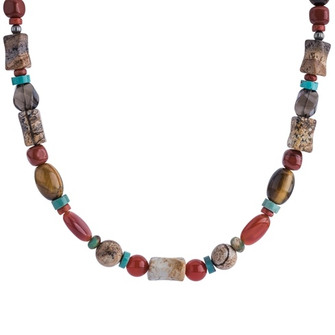 Multi Gemstone Beaded 32 Inch Necklace