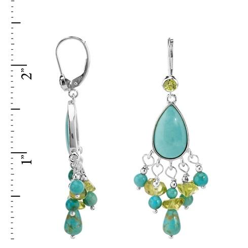 Sterling silver kingman turquoise and peridot chandelier earrings 19074fsrulerkingman turquoise and peridot chandelier earringsg mozeypictures Choice Image