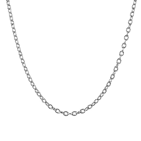 American West Sterling Silver 17-inch Curb Link Chain Necklace