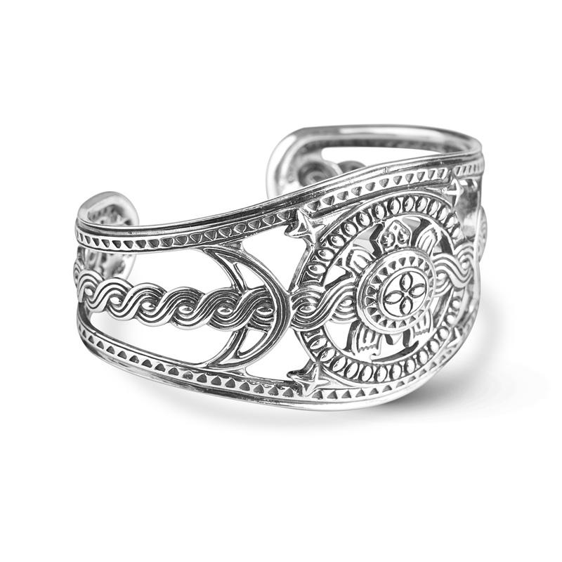 Sterling Silver Kenneth Johnson Designed Turtle Cuff Bracelet Size M, L or XL