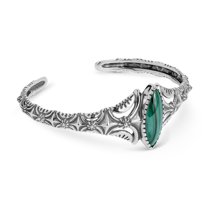 Classics Sterling Malachite Cuff Bracelet
