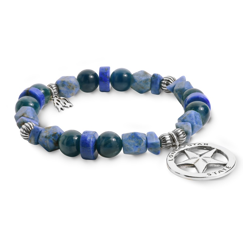 Sterling Silver Beaded Lone Star State