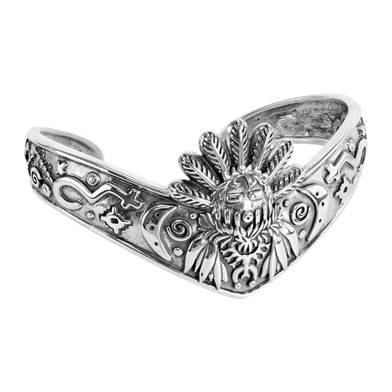 Sterling Silver Fritz Casuse Designed Spirit Dancer Cuff Bracelet Size S, M or L