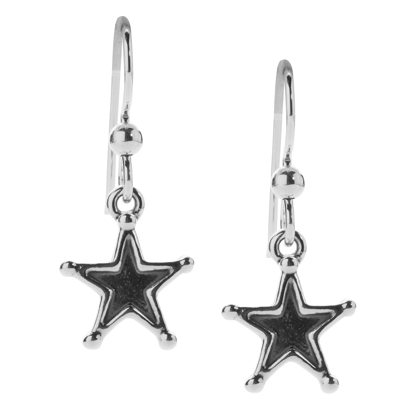 American West Sterling Silver Star Earrings