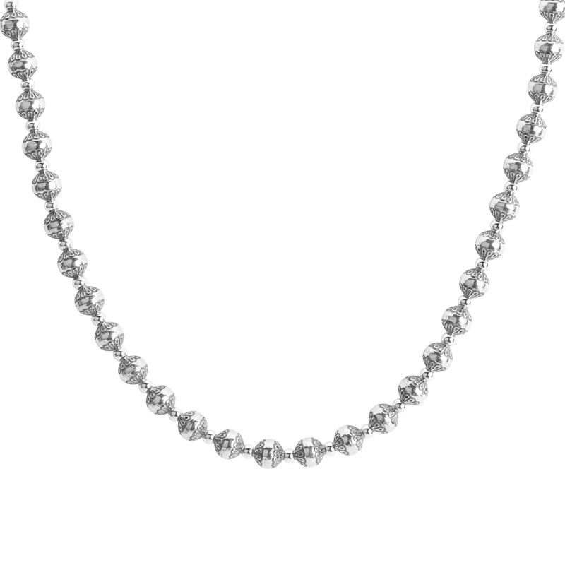 Sterling Silver Native Pearl Necklace 17 to 20 Inch