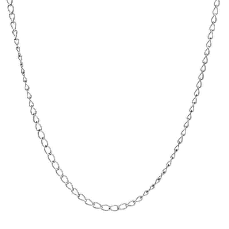 "Sterling_Silver_36""_Curb_Link_Chain_Necklace"