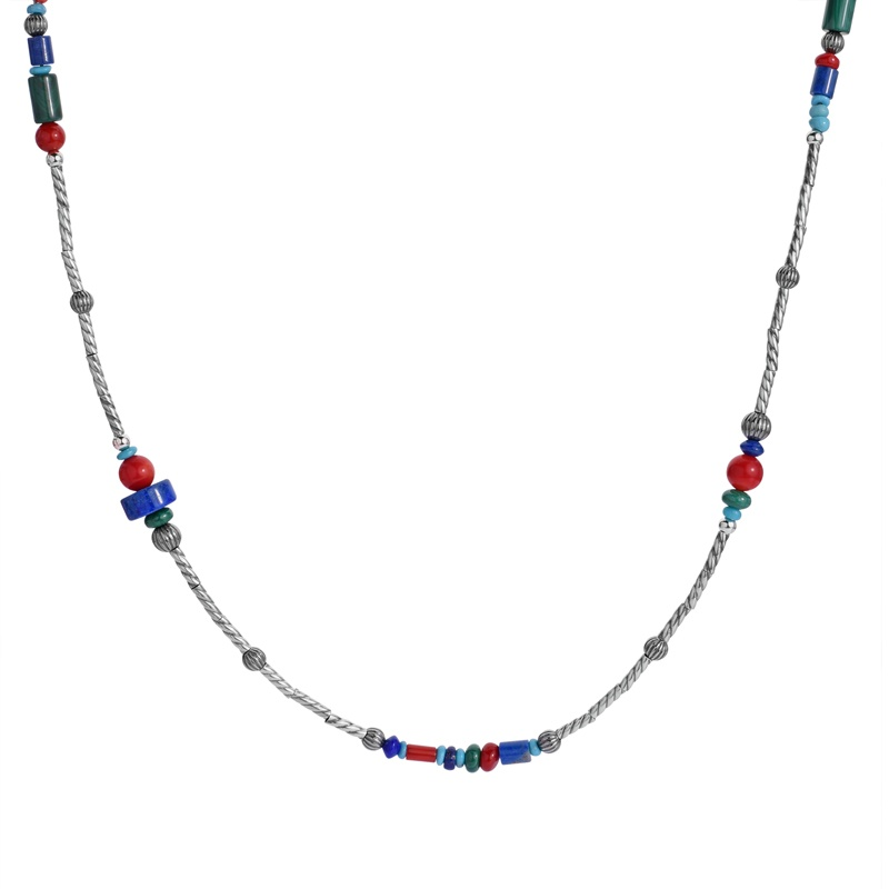 Classics Sterling Multicolor Beaded Necklace