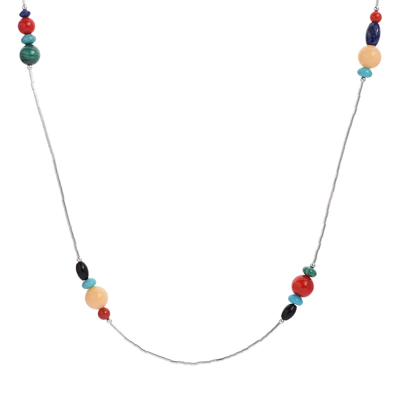 Multi Gemstone 32 Beaded Necklace