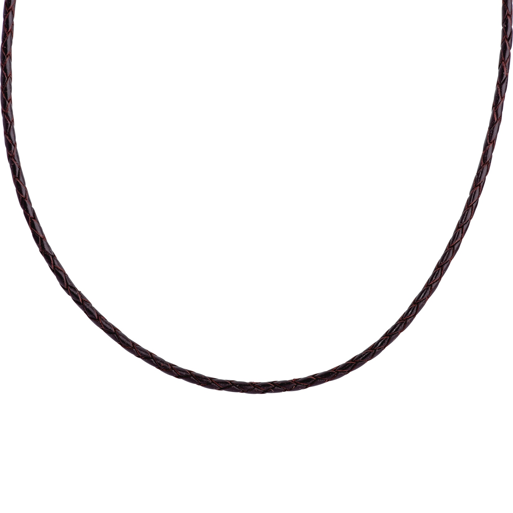 American West 15 Inch Brown Leather Necklace