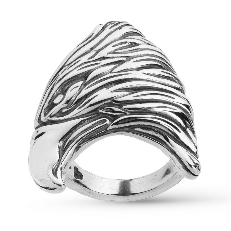 Sterling Silver Fritz Casuse Designer Eagle Bold Ring Size 5 to 12