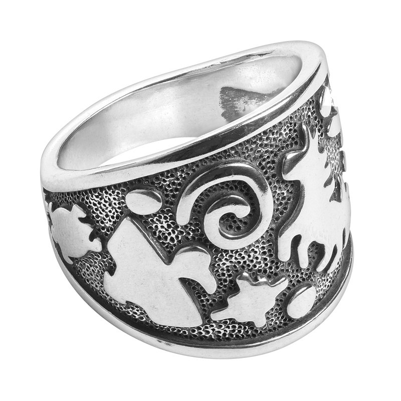 Sterling Silver Jody Naranjo Designed Fetish Symbol Ring Size 5 to 10